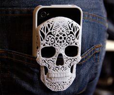 3D Printed Skull iPhone Case | DudeIWantThat.com