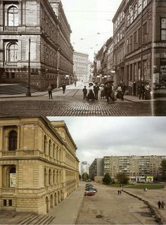 Königsberg (today Kaliningrad) then & now.