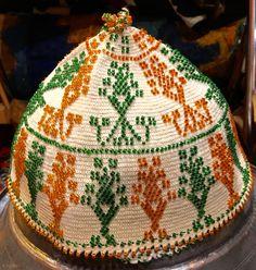 Syrian Beaded Durzi hat.
