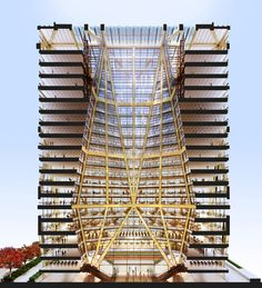 Atriums in High Rise Buildings Diagrams  #Foster #Norman Pinned by www.modlar.com
