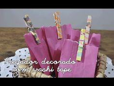 Como fazer pregador de roupas decorado com washi tape