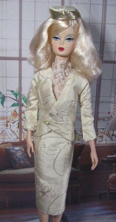 Ivory & Gold Silk Taffetta Suit & Hat Victoire, Fashion Royalty , Silkstone