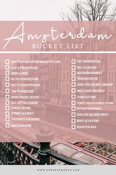 Things to do in Amsterdam, Netherlands - Here is the ultimate Amsterdam bucket list that is full of all the top things to do in Amsterdam. Amsterdam Location, Amsterdam City Guide, Amsterdam Itinerary, Amsterdam Holland, Visit Amsterdam, Amsterdam Travel, European Road Trip, Anne Frank House, Dam Square