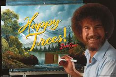 """A great poster of soft-spoken painter Bob Ross who put """"Happy Trees"""" on his canvas and in our hearts :) Published Fully licensed. Need Poster Mounts. Wavy Inverted Bob, Inverted Bob Haircuts, Medium Brown Hair Color, Brown Hair Colors, Bob Ross Happy Trees, Side Part Bob, Very Short Bob, Cute Bob"""