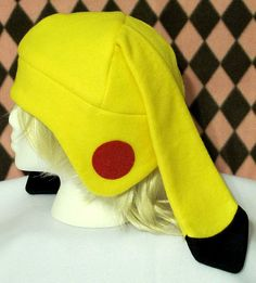 Yellow Electric Type Fleece Hat by mdhatters on Etsy