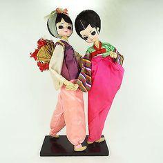 Bradley-Doll-Big-Eyed-Twin-Oriental-Pair-Asian-Girl-Boudoir-Dolls-Sisters