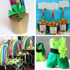 St. Patrick's Day Treat Buckets -  A cute and simple way to make St Patrick's Day special!