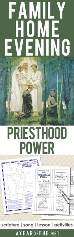 A free Family Home Evening all about the power of the Priesthood. This has a great attention activity/object lesson AND activites for yonug kids and older kids/teens. FHE is ready...just CLICK, PRINT, and TEACH! #lds #priesthood
