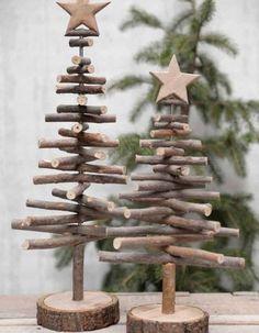 Un sapin de Noël en bois en version mini