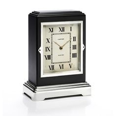 Art Deco electric table clock by Cartier, circa 1935