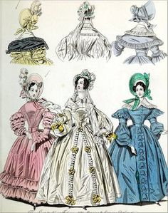 The World of Fashion and Continental Feuilletons 1836 Plate 24