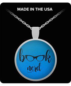 Book Nerd Pendant Necklace