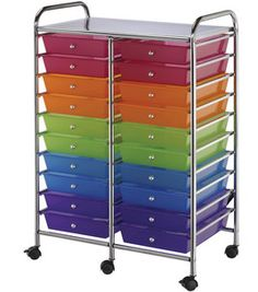 Storage Cart Double-Wide with 20 Drawers- Multi-Color : sewing rolling organizers : sewing & quilting storage : storage :  Shop | Joann.com