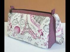 Aula em video da bolsa de tecido Yasmin. DIY. Cool fabric bag tutorial. Fabric bags - YouTube