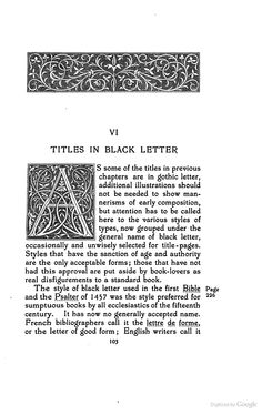 Title-pages as Seen by a Printer: With Numerous Illustrations in Facsimile ... - Theodore Low De Vinne - Google Books - Initial A