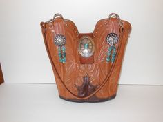 This is a custom StageCoach Bag created from a vintage cowboy boot.  Custom orders can be made from your own boots or they provide the boots.  www.stagecoachbagsandcollectibles.com Create A Family, Vintage Boots, Cowboy Boots, Bond, Purses, Leather, Clothes, Beautiful, Handbags