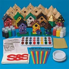 Wooden Birdhouses Craft Kit