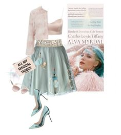 """""""Magical Things'"""" by dianefantasy ❤ liked on Polyvore featuring RED Valentino, Sophia Webster, Forever 21, Tiffany & Co., Miu Miu, women's clothing, women's fashion, women, female and woman"""