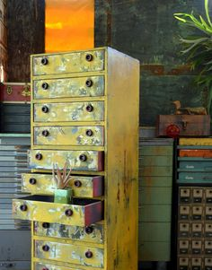 Homemade Upcycled Dresser / Chest of Drawers: by MerlesVintage