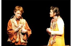 Angus McDonald plays Wang the Water Seller, Jennifer Wong playing Shui Ta in the M.E. LaZerte High School Cappies production of The Good Person of Szechwan.