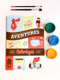 "French Colouring Book ""Adventures"" for kids, Bimbily"