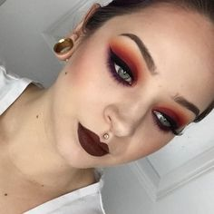 I like the eyes and the lip color but not together.