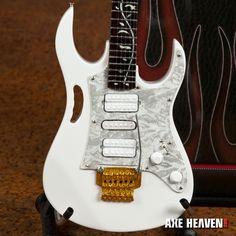 Steve Vai Signature White JEM Miniature Guitar Replica Collectible