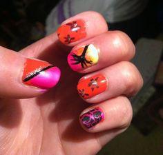 Island inspired nails