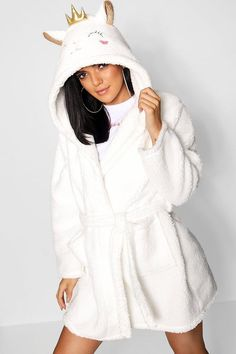 Fluffy Lamb Dressing Gown - Under Wear Chic Outfits, Fashion Outfits, Mohair Sweater, Nightwear, Night Gown, Pajama Set, Lounge Wear, Dressing, Gowns
