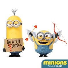 Happy Valentine's Day from Cupid and the Minions. | See the Minions Movie in theaters Summer 2015. http://movieshdnow.com