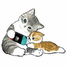 Kitten Drawing, Cute Cat Drawing, Cute Animal Drawings, Cute Drawings, Baby Cats, Cats And Kittens, Baby Animals, Cute Animals, Cute Animal Photos