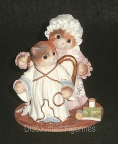 Calico Kittens Enesco 1996 You've Earned Your Wings Figurine #178454 Limited Ed.