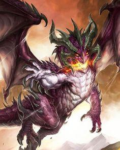 Male Ancient Black Dragon Ravener - Pathfinder PFRPG DND D&D 3 5 5E