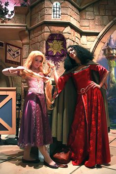 Rapunzel and Mother Gothel by *NikitaCosplay on deviantART