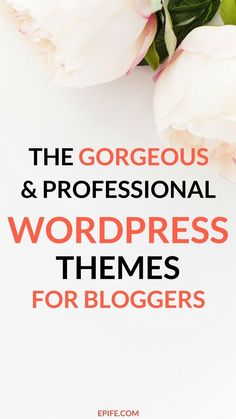Look at the gorgeous collection of best wordpress themes for bloggers and female entrepreneurs! These fantastic wordpress themes are perfect to rebrand your current blog and make your visitors love your blog forever | themes for blogs | wordpress themes business | wordpress themes blog design.