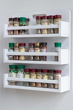 Kitchen Organization Pantry, Diy Kitchen Storage, Kitchen Shelves, Home Decor Kitchen, Kitchen Furniture, Kitchen Interior, Diy Home Decor, Kitchen Design, Wall Spice Rack
