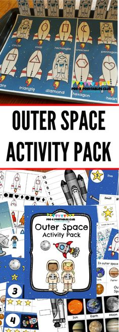 Preschool Outer Space Themed Printable Activity Pack. 15+ Math, Literacy and other Preschool learning activities.