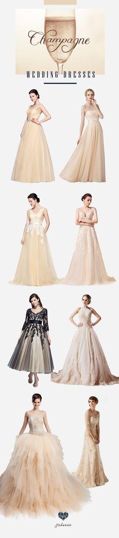 Champagne Wedding Dresses! #weddingdress