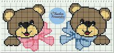Ponto cruz Pixel Crochet, C2c Crochet, Crochet Squares, Crochet Baby, Crochet Symbols, Knitted Baby Cardigan, Cross Stitch Heart, Plastic Canvas Patterns, Baby Disney
