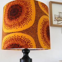 Dandy vintage barkcloth drum lampshade from follyandGlee