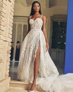 27 Bridal Inspiration: Country Style Wedding Dresses ❤ country style wedding dresses a line with spaghetti straps lace slit galia lahav #weddingforward #wedding #bride #weddingoutfit #bridaloutfit #weddinggown