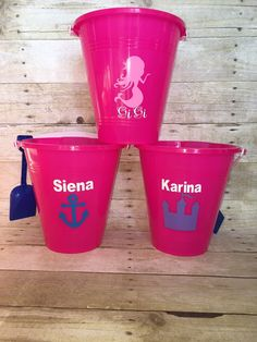 Personalized Beach Pail with Shovel  Custom by sparklesbyjules