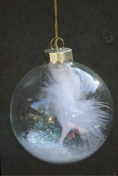 Angel feather ornament sympathy by handmadebysandyo on Etsy, $7.95