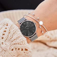 My Style Uhr: Minuit Mesh Dark Grey Garden Ponds - they are not to difficult to install Article Body Fancy Watches, Trendy Watches, Popular Watches, Elegant Watches, Beautiful Watches, Cool Watches, Watches For Men, Wrist Watches, Women's Watches