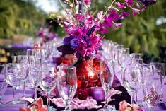 Red and Purple Wedding Ideas | Calligraphy by Jennifer