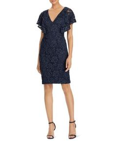 af06082714c AQUA Bell-Sleeve Lace Dress - 100% Exclusive Women - Bloomingdale s
