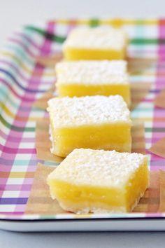 Double Lemon bars for Easter, Spring picnics, bake sales, and just 'cause! Lemon Desserts, Lemon Recipes, Delicious Desserts, Dessert Recipes, Hot Desserts, Dessert Bars, 16 Bars, Spring Treats, Lemon Bars