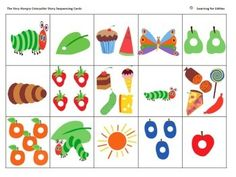 These brightly coloured cut and paste activities, based on Eric Carle's beautifully written and illustrated picture book, The Very Hungry Caterpillar, allow teachers to check students' understanding of the order and details of the major events of the story, as they shuffle and sequence the cards.