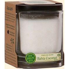 Aloha Bay Candle - Jar Bahia Coconut - 8 oz every day at these amazing prices! ALOHA JARS - PERFUME BLENDS WITH ESSENTIAL OILS Aloha Jars are the world's first Rainforest Alliance certified candle line made of Eco Palm Wax sourced from certified organic palm groves in South America. Eight ounces each. Burn time is 40 hours. The decorative black wooden lid serves as a base for the jar. Just place the lid upside-down on your table and position the jar on top of it. Double cotton wicks for c...