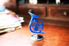 Blue French Horn | HIMYM | Ted  | Robin | Stand Alone Home Decor